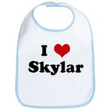 I Love Skylar Bib