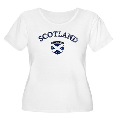 Scotland Soccer Women's Plus Size Scoop Neck T-Shi