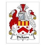 Dickson Family Crest Small Poster