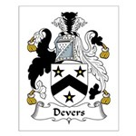 Devers Family Crest Small Poster