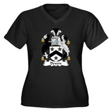 Devers Family Crest Women's Plus Size V-Neck Dark