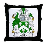Derby Family Crest Throw Pillow