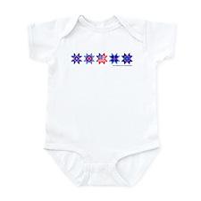 Stars on White Infant Bodysuit