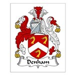 Denham Family Crest Small Poster