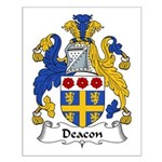 Deacon Family Crest  Small Poster