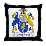 Dandridge Family Crest Throw Pillow