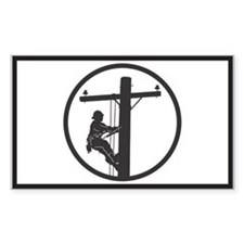 Lineman Sticker (Rectangular)