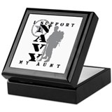 I Support Aunt 2 - NAVY Keepsake Box