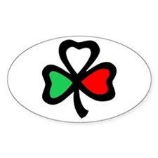 Italian shamrock Oval Decal