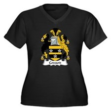 Coward Family Crest Women's Plus Size V-Neck Dark