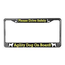 Pug Agility Dog License Plate Frame
