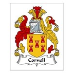 Cornell Family Crest Small Poster