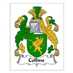 Collins Family Crest  Small Poster