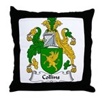 Collins Family Crest  Throw Pillow