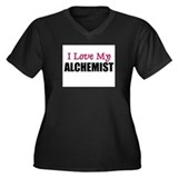 I Love My ALCHEMIST Women's Plus Size V-Neck Dark