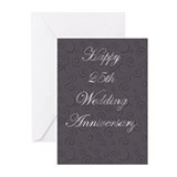 25th Anniversary Greeting Cards (Pk of 20)