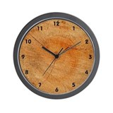 End Of Log Wall Clock