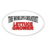 """The World's Greatest Lettuce Grower"" Decal"