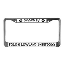 Owned by Lowland Sheepdogs License Plate Frame