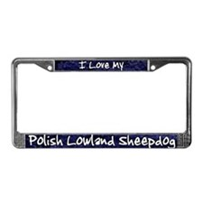 Funky Love Polish Lowland License Plate Frame