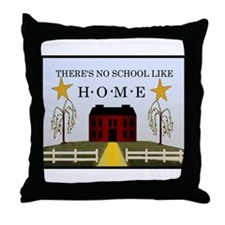 There's No School Like Home Throw Pillow