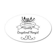 Genuine Quality Occupational 35x21 Oval Wall Decal