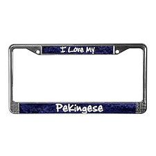 Funky Love Pekingese License Plate Frame