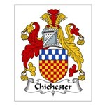 Chichester Family Crest Small Poster