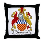 Chichester Family Crest Throw Pillow