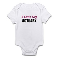 I Love My ACTUARY Infant Bodysuit
