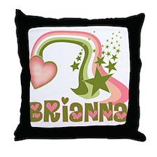Rainbows & Stars Brianna Personalized Throw Pillow
