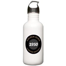 Birthday Born 1950 Cla Water Bottle