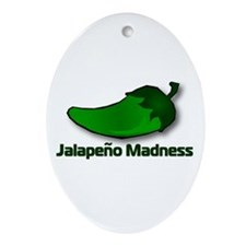 Jalapeno Madness Oval Ornament