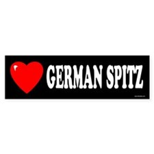 GERMAN SPITZ Bumper Bumper Sticker