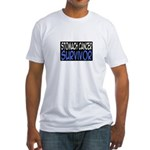 'Stomach Cancer Survivor' Fitted T-Shirt
