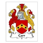 Carr Family Crest  Small Poster