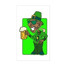 St. Patrick's Day Style Rectangle Decal