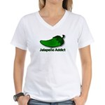 Jalapeno Addict Women's V-Neck T-Shirt