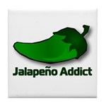 Jalapeno Addict Tile Coaster