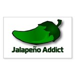 Jalapeno Addict Rectangle Sticker