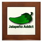 Jalapeno Addict Framed Tile