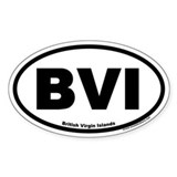 British Virgin Islands BVI Oval Decal