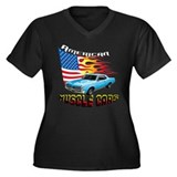 Muscle Car-GTO Women's Plus Size V-Neck Dark T-Shi