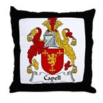 Capell Family Crest Throw Pillow