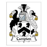 Campion Family Crest Small Poster