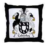 Calverley Family Crest Throw Pillow