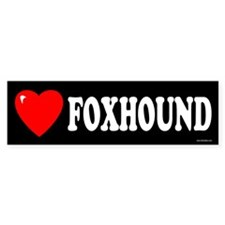 FOXHOUND Bumper Bumper Sticker