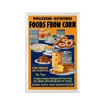 Foods from Corn Rectangle Magnet