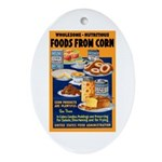 Foods from Corn Oval Ornament