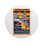 Foods from Corn Ornament (Round)
